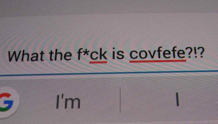 Spell checker figuring out covfefe