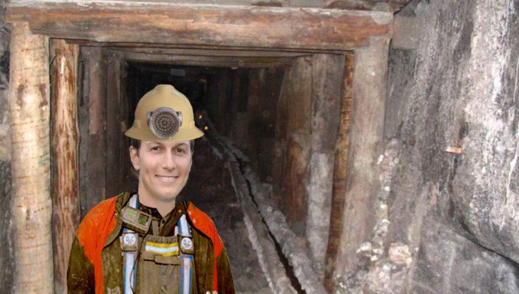 Jared Kushner in a mine